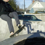 Today Mike and I got out for a sunny but freezing roll around at the South Park Skatepark. Half the park was covered in a sheen of ice where the sun hadn't hit so pretty much we had north side to skate. While we were there we thought it would be a good idea to capture our first grinds of 2011 with my cell phone. Easier said than done because when you click the button you don't get what you thought you would. Early or late but never exactly what you want.